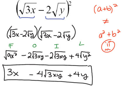 how to find the roots of a radical equation